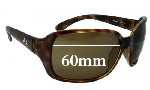Ray Ban RB4068 Replacement Sunglass Lenses - 60mm across