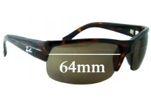 Ray Ban RB4079 Replacement Sunglass Lenses - 64mm across