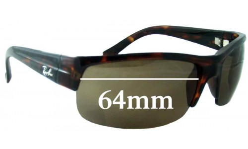 Sunglass Fix Replacement Lenses for Ray Ban RB4079 - 64mm across