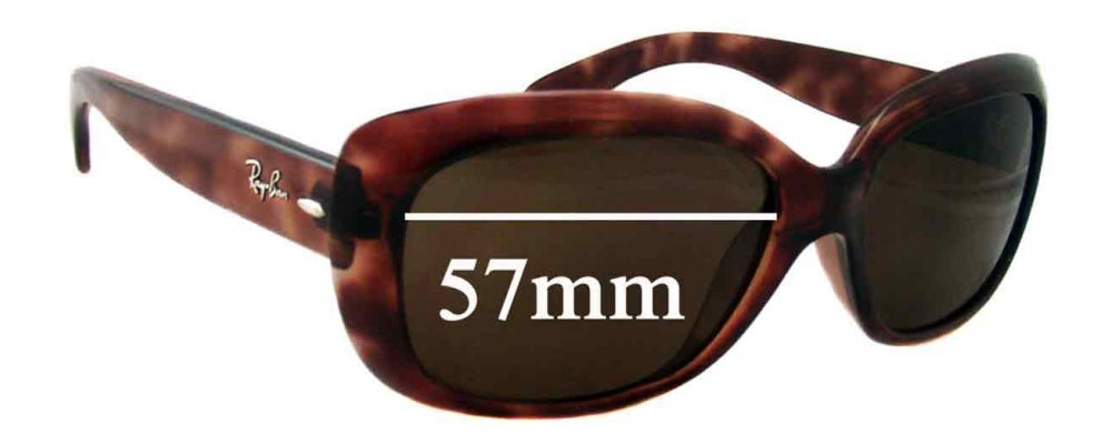 c3934097ec Ray Ban Jackie Ohh RB4101 Replacement Lenses - 57mm Wide