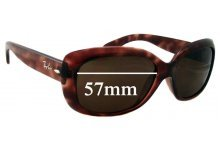a7fa52d17a Sunglass Fix Sunglass Replacement Lenses for Ray Ban Jackie Ohh RB4101 -  57mm Wide