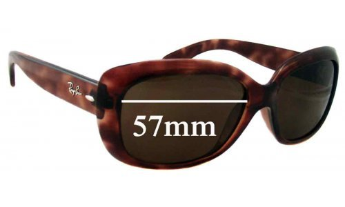 Sunglass Fix Replacement Lenses for Ray Ban Jackie Ohh RB4101 - 57mm Wide