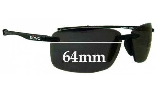 Revo Descend RE4059 Replacement Sunglass Lenses - 64mm wide