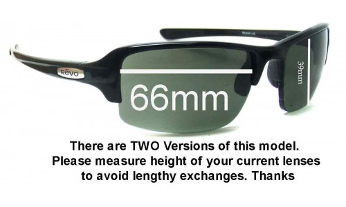 Revo Abyss RE4041 Replacement Sunglass Lenses - 66mm Wide 39mm Tall