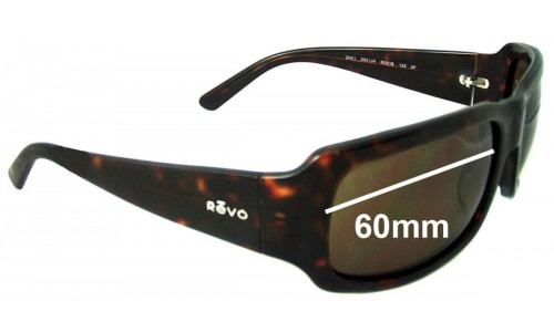 Revo RE2041 Replacement Sunglass Lenses - 60mm Wide Lenses
