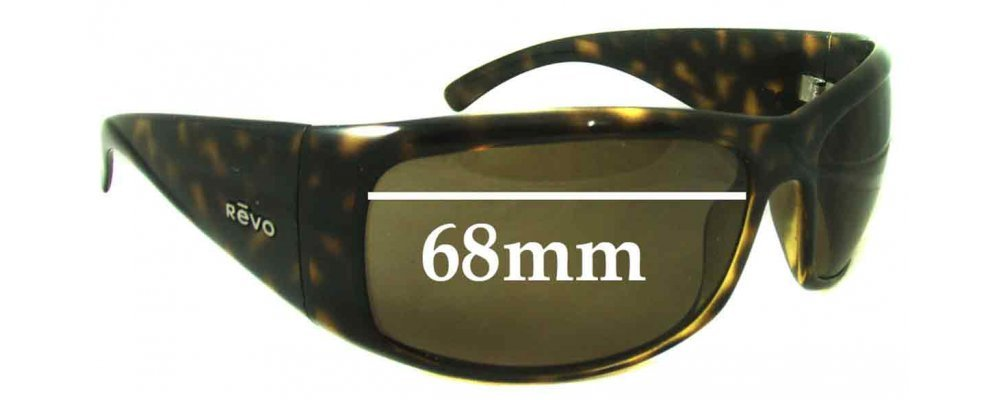 SFx Replacement Sunglass Lenses fits Revo 4033-68mm Wide Lenses