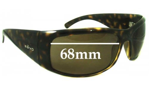 Revo 4033 Replacement Sunglass Lenses - 68mm Wide Lenses