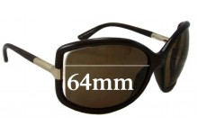 Tom Ford Anais TF125 Replacement Sunglass Lenses - 64mm Wide
