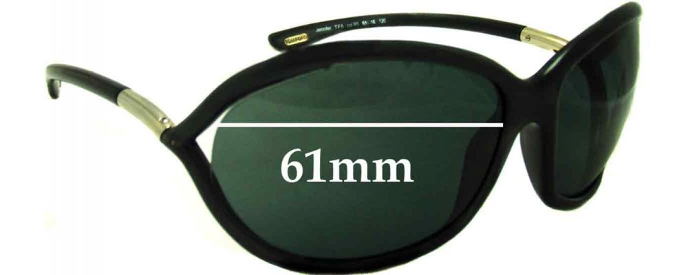 60ff06456fd Tom Ford Jennifer FT0008 Replacement Sunglass Lenses - 61mm Wide