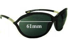 Tom Ford Jennifer FT0008 Replacement Sunglass Lenses - 61mm Wide