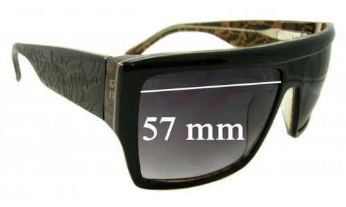 Tsubi Geezer Replacement Sunglass Lenses - 57mm Wide