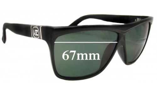 Von Zipper Giggles Replacement Sunglass Lenses - 67mm wide