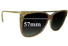 Sunglass Fix Replacement Lenses for Yves Saint Laurent YSL Unknown Model 57mm Wide