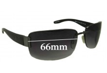 ARMANI EXCHANGE AX001/S Replacement Sunglass Lenses - 66mm wide