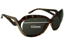 Sunglass Fix New Replacement Lenses for Armani Exchange AX 126/S - 62mm Wide