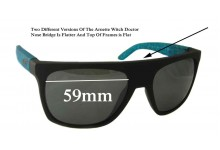 Arnette Witch Doctor AN4177 Replacement Sunglass Lenses - 59mm Wide Flat Top Frames