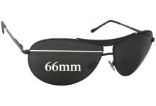 B+D 4664 Replacement Sunglass Lenses - 66mm Wide