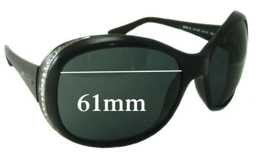 Bvlgari 8058-B Sunglass Replacement Lenses 61mm wide