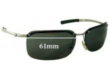 Sunglass Fix New Replacement Lenses for Calvin Klein CK2008 - 61mm Wide