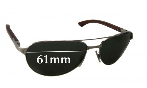 Cartier Santos-Dumont Replacement Sunglass Lenses - 61mm wide