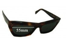Celine CL 41802/S Replacement Sunglass Lenses - 55mm Wide