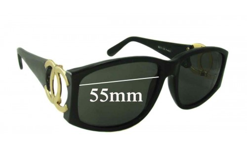 Chanel 807 Replacement Sunglass Lenses - 55mm wide