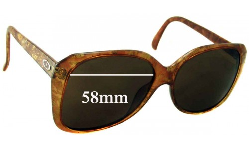 Christian Dior 2450 Replacement Sunglass Lenses - 58mm Wide