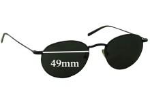 Club Monaco CM7507 Replacement Sunglass Lenses - 49mm wide