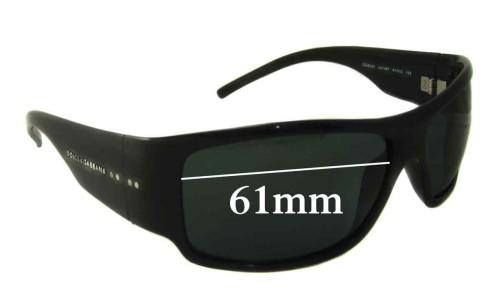 Dolce & Gabbana DG6020 Replacement Sunglass Lenses- 61mm Wide