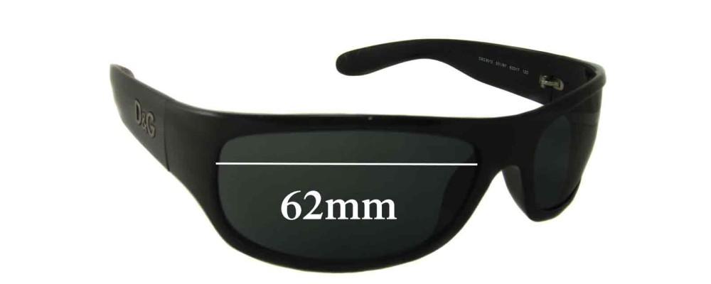 Dolce & Gabbana DG8013 Replacement Sunglass Lenses - 62mm wide