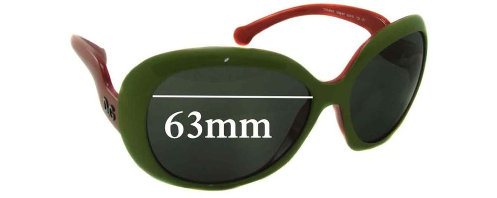 Dolce & Gabbana DG8063 Replacement Sunglass Lenses - 63mm wide