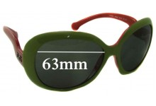 Sunglass Fix New Replacement Lenses for Dolce & Gabbana DG8063 - 63mm Wide