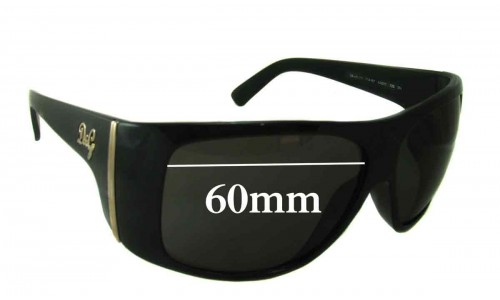 Dolce & Gabbana DG8040 Replacement Sunglass Lenses- 60mm Wide