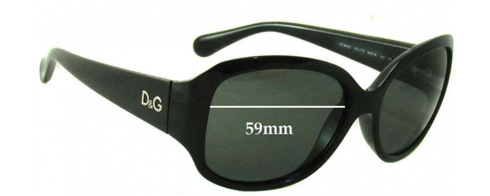 Dolce & Gabbana DG8065 Replacement Sunglass Lenses - 59mm wide