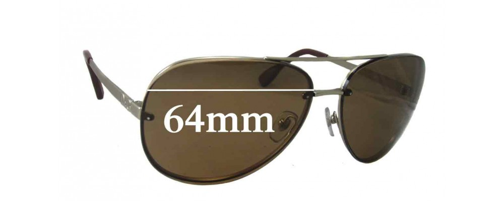 Dolce & Gabbana DG6086 Replacement Sunglass Lenses - 64mm wide