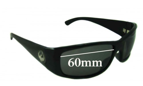 Dragon Dusk Replacement Sunglass Lenses - 60mm wide