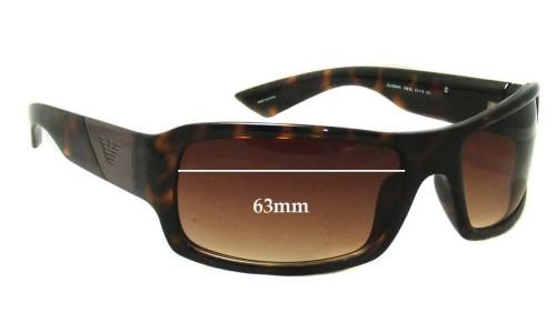 EMPORIO ARMANI EA9884S Replacement Sunglass Lenses - 63mm Wide