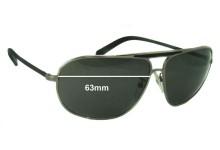 Ermenegildo Zegna SZ 3072 Replacement Sunglass Lenses - 63mm wide