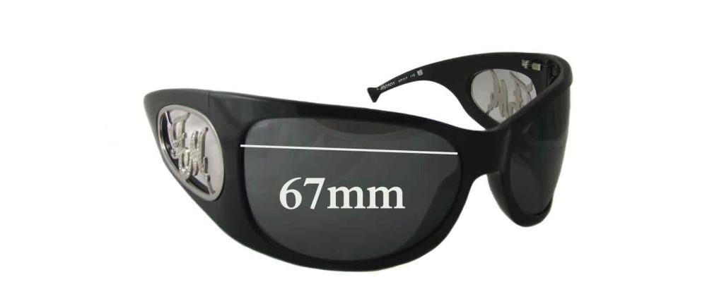 Frankie Morello FM50601 Replacement Sunglass Lenses - 67mm wide