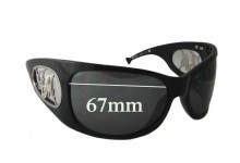 Frankie Morello FM50601 Replacement Sunglass Lenses - 67mm wide