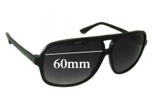 Gasoline Replacement Sunglass Lenses - 60mm wide