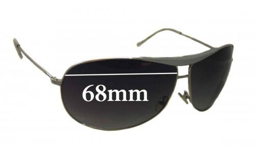 Giorgio Armani GA 134/S Replacement Sunglass Lenses - 68mm wide