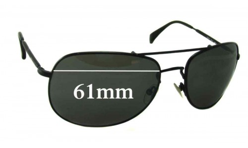 Giorgio Armani Opdehy Replacement Sunglass Lenses - 61mm Wide