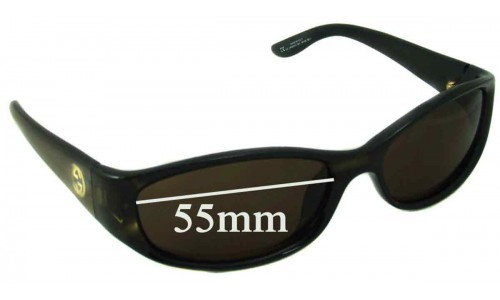 Gucci 2456/N/S Replacement Sunglass Lenses - 55mm wide