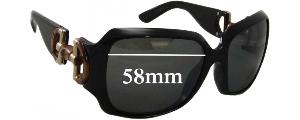 Gucci 2969 Replacement Sunglass Lenses - 57-58mm Wide