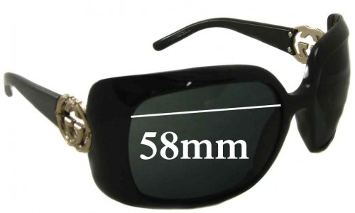 Gucci GG 3034/S Replacement Sunglass Lenses - 58mm wide