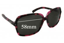 Jimmy Choo Eddie/s Replacement Sunglass Lenses 58mm wide