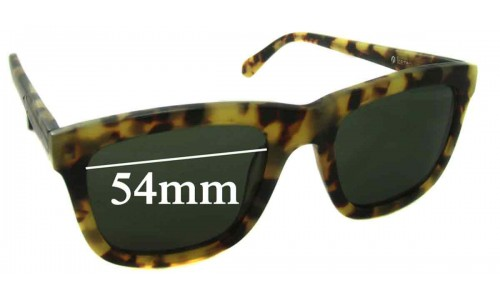 Karen Walker Deep Freeze Replacement Sunglass Lenses 54mm Wide