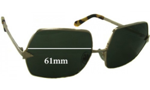 Karen Walker The Prisoner Replacement Sunglass Lenses 61mm Wide