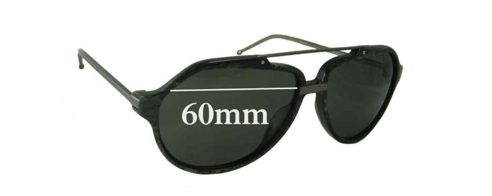 Linda Farrow Raf Simons Replacement Sunglass Lenses - 60mm Wide